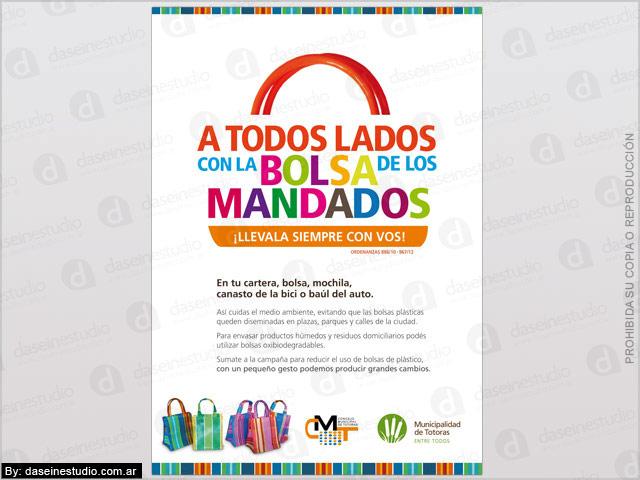 Diseño de Afiche - Campaña Bolsa de los mandados