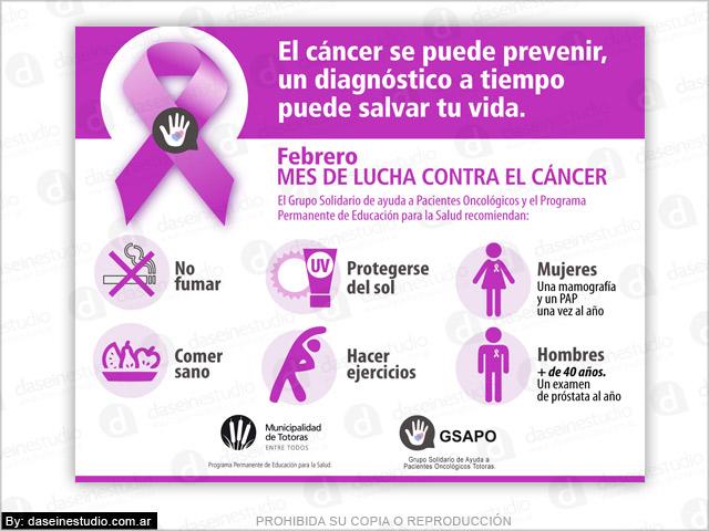 Diseño de Afiches vía pública prevención del Cáncer