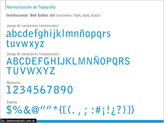 Tipografía Manual de aplicación logotipo ufc