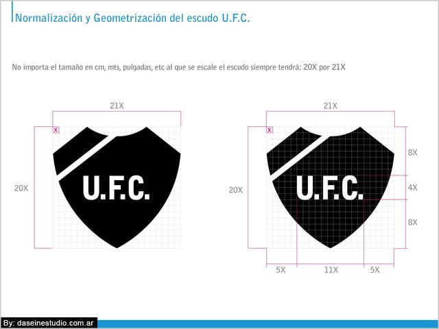 Escudo Manual de aplicación logotipo ufc