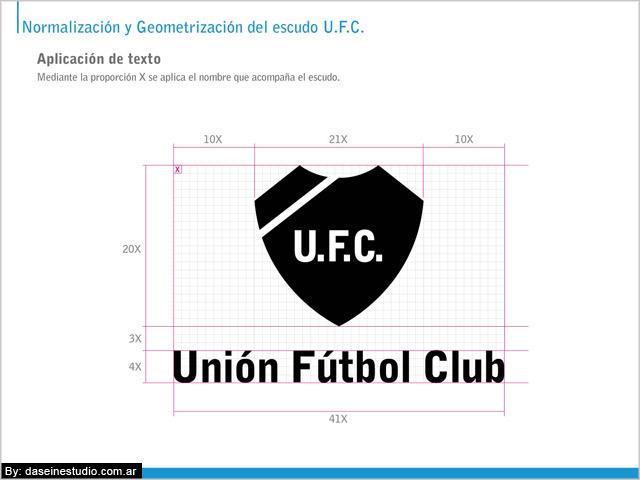 Escudo oficial y nombre Manual de aplicación logotipo ufc