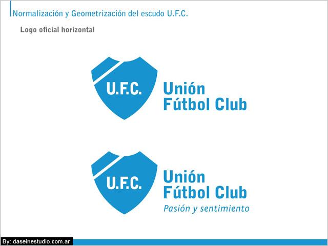 Escudo oficial horizontal con eslogan Manual de aplicación logotipo ufc