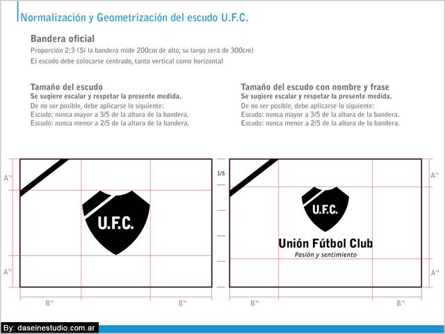 Bandera Manual de aplicación logotipo ufc