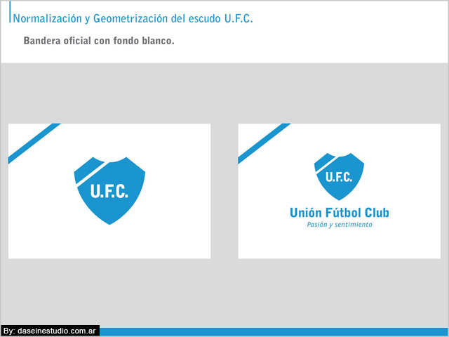 Bandera oficial Manual de aplicación logotipo ufc