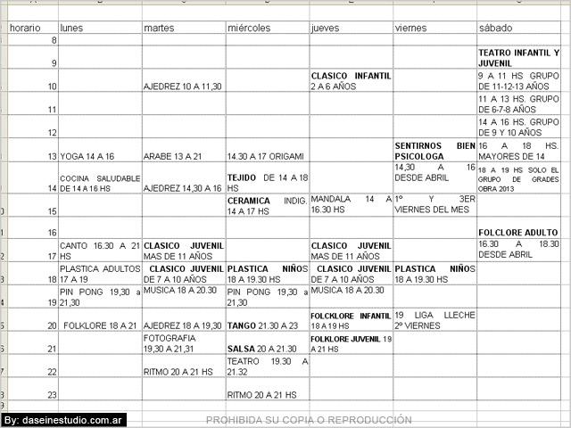 Borrador cronograma de talleres