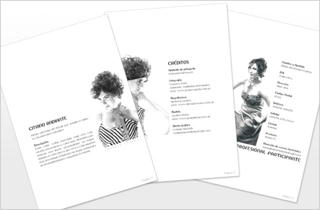 Diseño de Brochure de moda Modalité - Páginas A4.