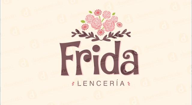 Diseño de logotipo Frida Lenceria - Fondo Claro