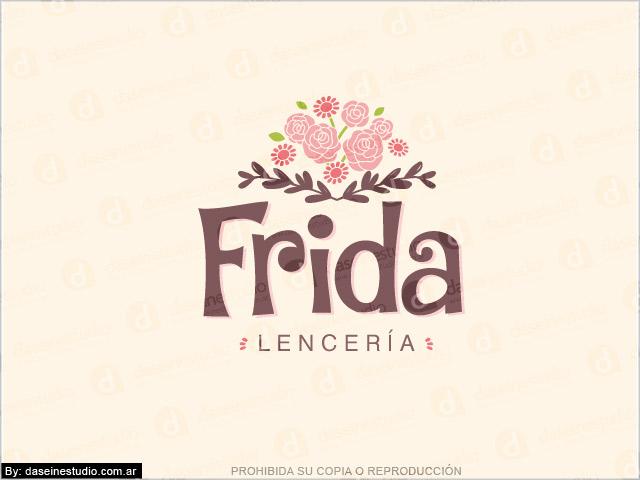 Diseño de logotipo Frida Lencería - Fondo Claro