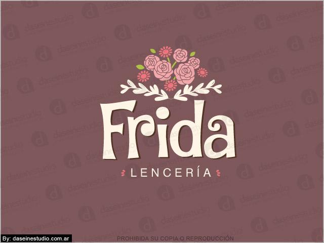 Diseño de logotipo Frida Lencería - Fondo Oscuro
