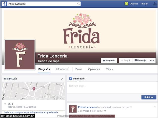 Diseño de portada para Facebook Frida Lencería