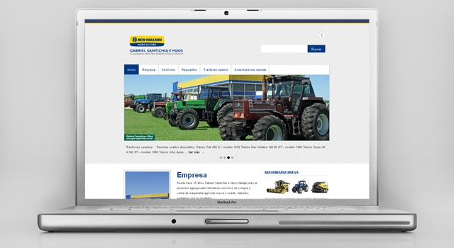 Diseño web G. Santichia – New Holland