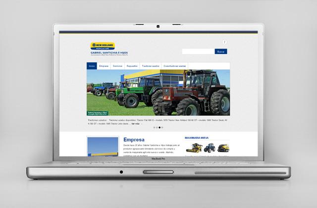 Diseño web Gabriel Santichia Concesionario New Holland - Presentación