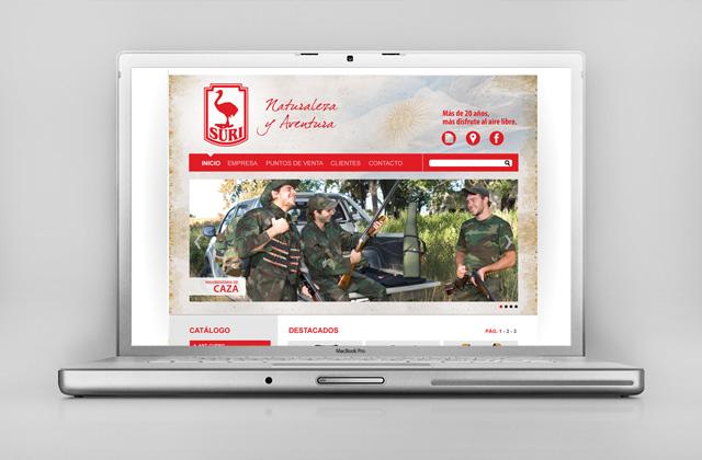 Diseño web Rosario - Fábrica de indumentaria de Caza y Outdoor - Suri