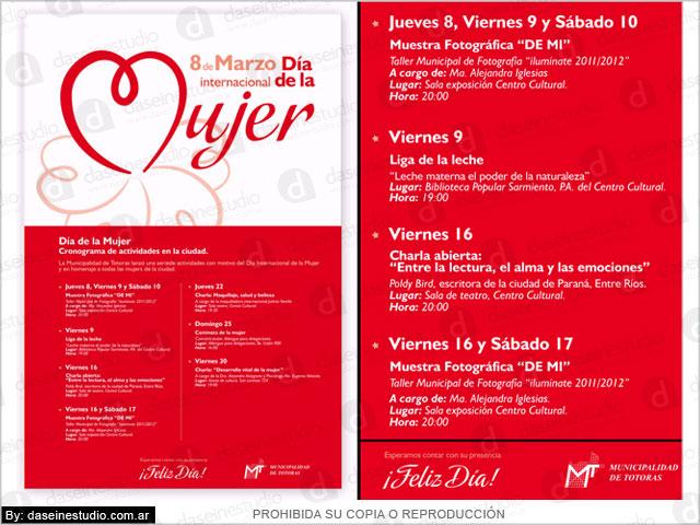 Diseño de Afiche 8 de Marzo Día de la Mujer - Municipalidad de Totoras
