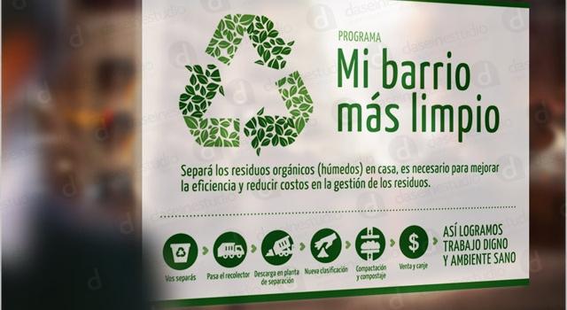 Diseño de afiches vía pública - Campaña separación de residuos
