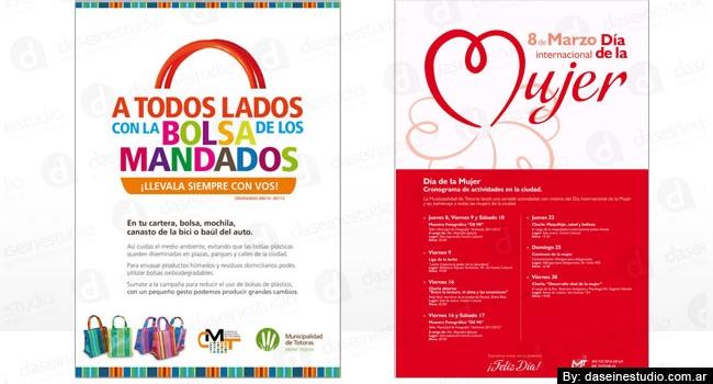 Diseño de afiches vía pública