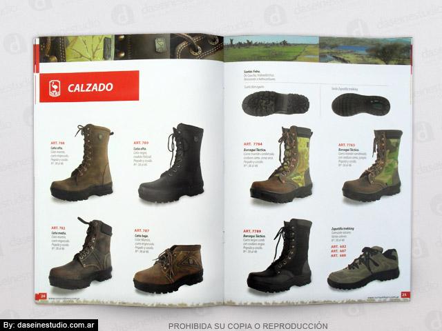 Diseño de Catálogo de Productos - Calzado, borcegos de cuero y zapatillas