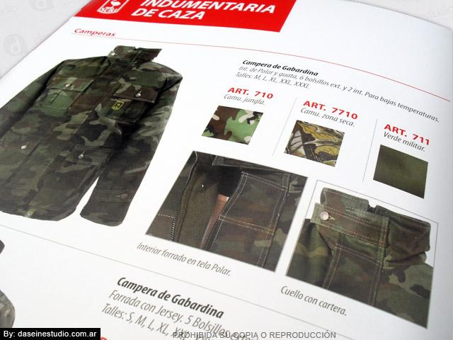 Diseño de Catálogo de Productos - Camperas zoom