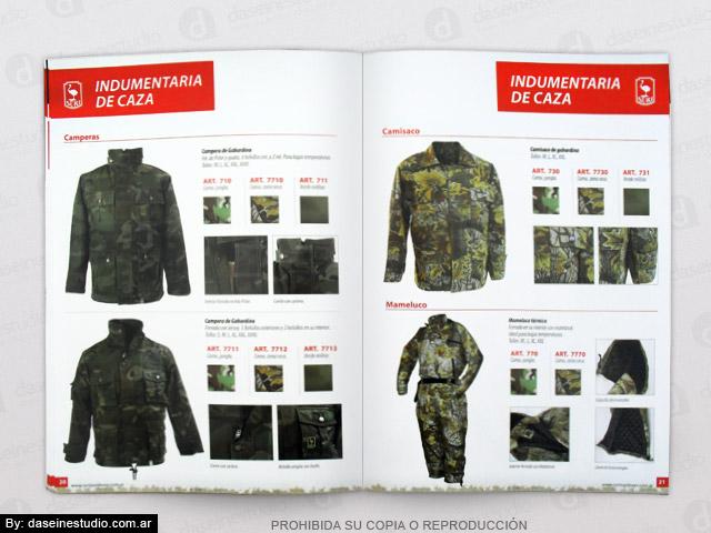 Diseño de Catálogo de Productos - Camperas