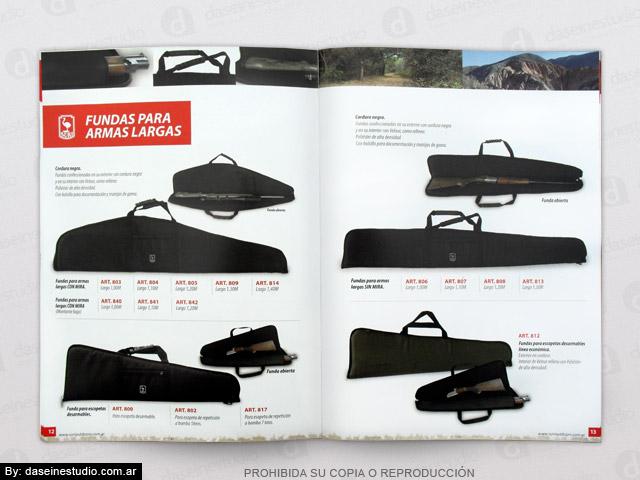 Diseño de Catálogo de Productos - Fundas para armas