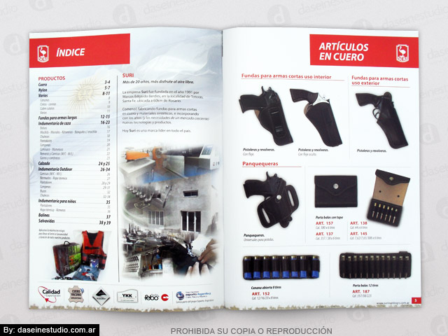 Diseño de Catálogo de Productos - Artículos de cuero