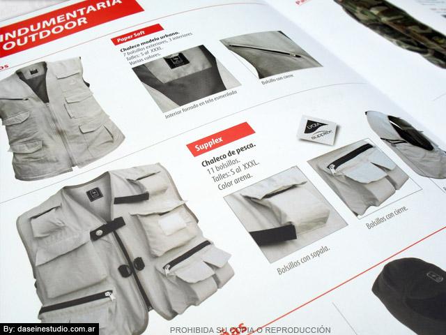 Diseño de Catálogo de Productos - Indumentaria outdoor zoom