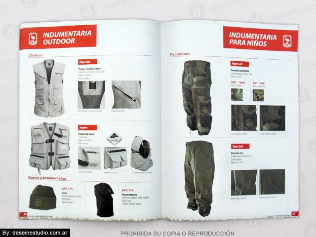 Diseño de Catálogo de Productos - Indumentaria outdoor