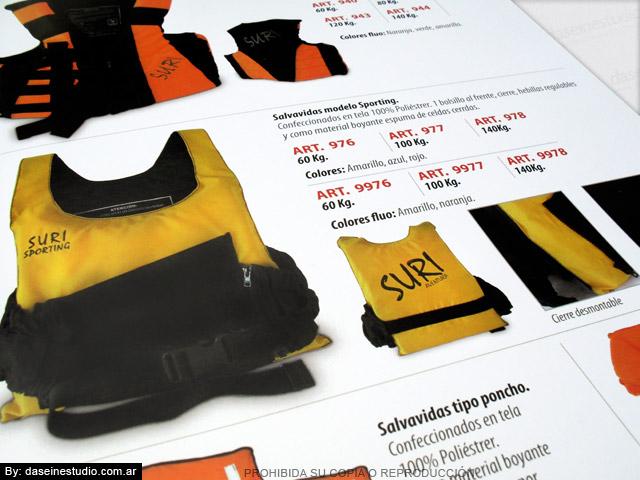Diseño de Catálogo de Productos - Chalecos Salvavidas zoom