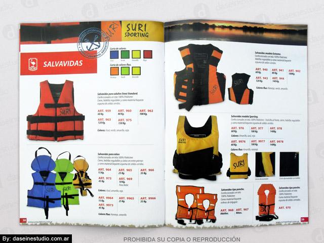 Diseño de Catálogo de Productos - Chalecos Salvavidas