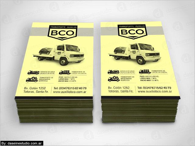 Diseño de folletos 1 tinta BCO Auxilio y Transporte