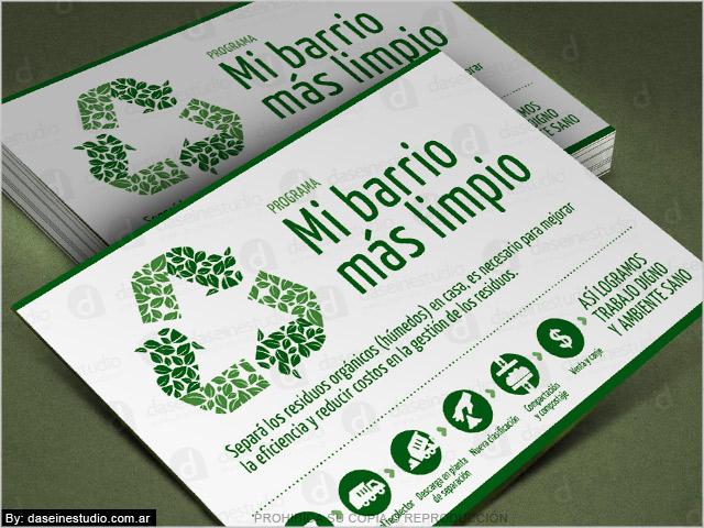 Diseño de folletos y volantes - Campaña separación de residuos