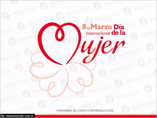 Diseño de logo 8 de Marzo Día de la Mujer - Municipalidad de Totoras