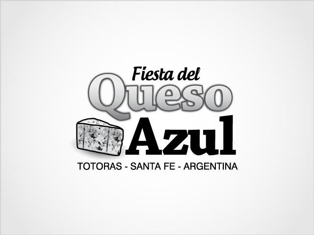 Diseño de logotipo Fiesta del Queso Azul - Blanco y Negro: normalización de logotipo.