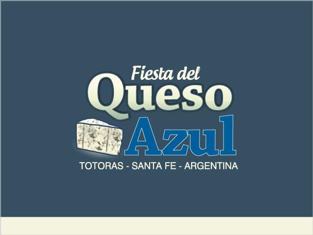 Diseño de logotipo Fiesta del Queso Azul - Fondo azul: normalización de logotipo.