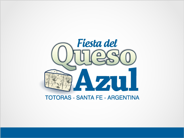 Diseño de logotipo Fiesta del Queso Azul - Fondo blanco: normalización de logotipo.