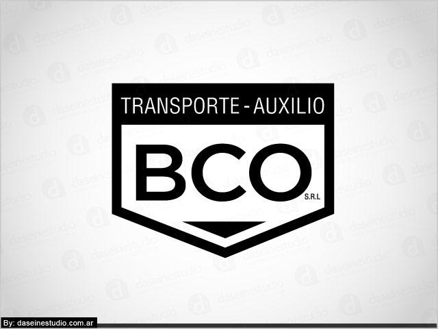 Diseño de logotipo BCO Auxilio y Transporte - Blanco y negro: normalización de logotipo.