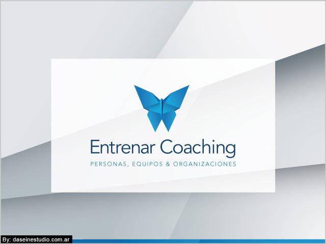 Diseño de logotipo Entrenar Coaching Rosario - Fondo textura: normalización de logotipo.