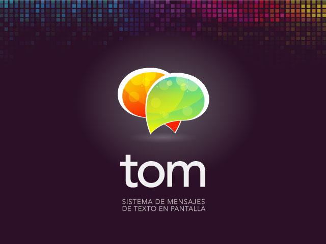Diseño de logotipo App TOM - Fondo negro: normalización de logotipo.