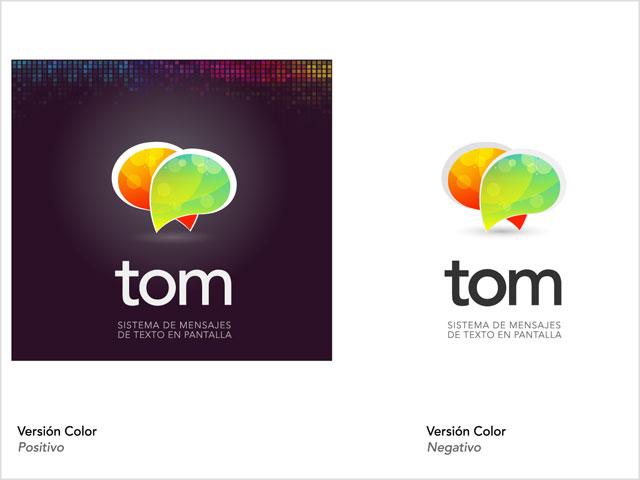 Diseño de logotipo App TOM - Variantes de color: normalización de logotipo.