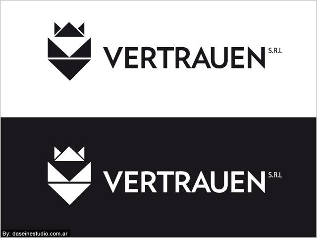 Diseño de logotipo Vertrauen SRL - Blanco y negro: normalización de logotipo.