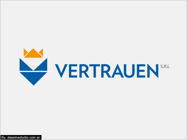Diseño de logotipo Vertrauen SRL - Fondo blanco: normalización de logotipo.