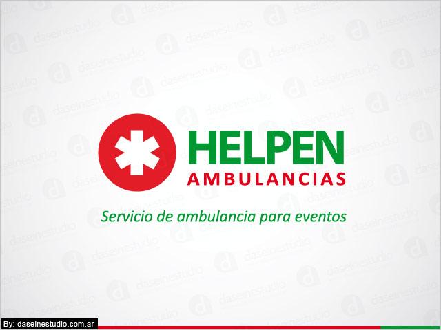 Diseño de logotipo Helpen Ambulancias - Versión Color