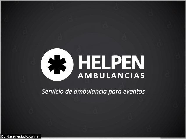 Diseño de logotipo Helpen Ambulancias - Versión fondo negro