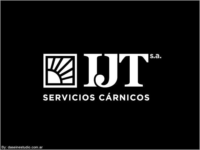 Diseño de logotipo IJT Servicios Cárnicos - Versión blanco