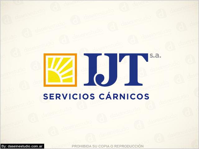 Diseño de logotipo IJT Servicios Cárnicos - Versión color