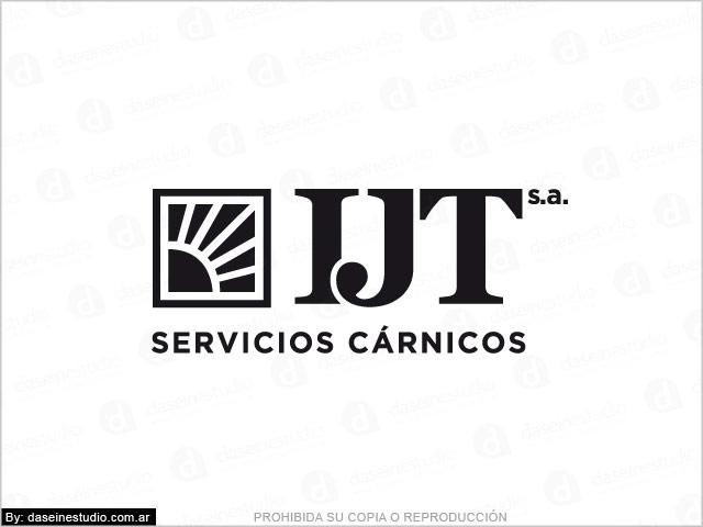 Diseño de logotipo IJT Servicios Cárnicos - Versión negro