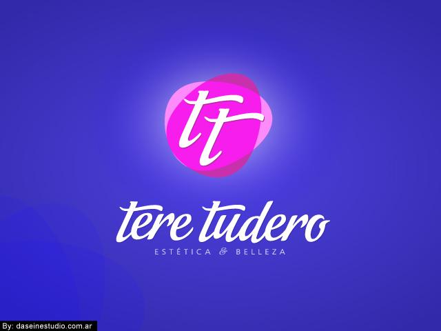 Diseño de logotipo Tere Tudero - Salamanca España - Fondo azul: normalización de logotipo.
