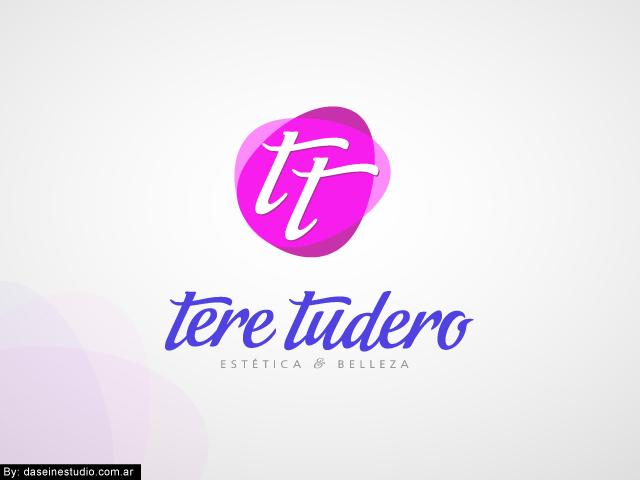 Diseño de logotipo Tere Tudero - Salamanca España - Fondo Gris: normalización de logotipo.