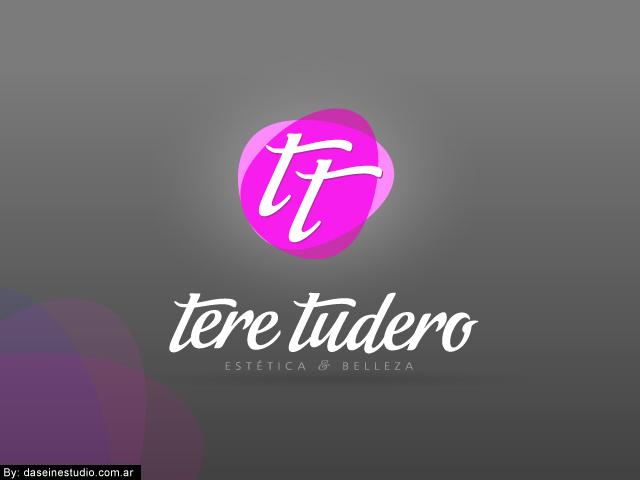 Diseño de logotipo Tere Tudero - Salamanca España - Fondo negro: normalización de logotipo.