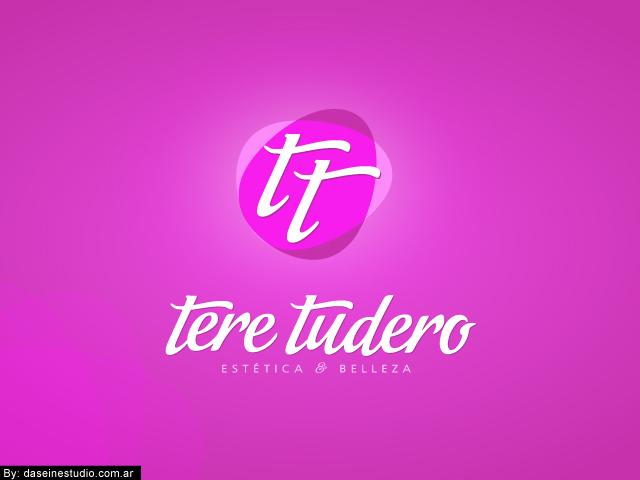 Diseño de logotipo Tere Tudero - Salamanca España - Fondo rosa: normalización de logotipo.